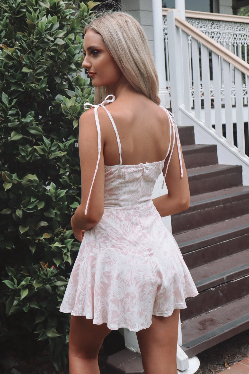 Sally Playsuit - Pink Floral - Runway Goddess