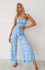 Santorini Floral Set Pants - Runway Goddess
