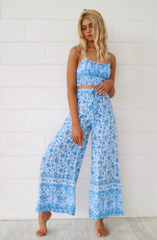 Santorini Floral Set Pants