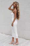 Serena Long Mesh Bodycon - White - Runway Goddess