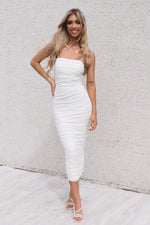 Serena Long Mesh Bodycon - White