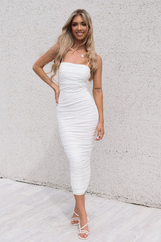 Serena Long White Bodycon