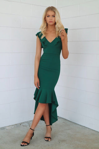 Showstopper Emerald Formal Dress