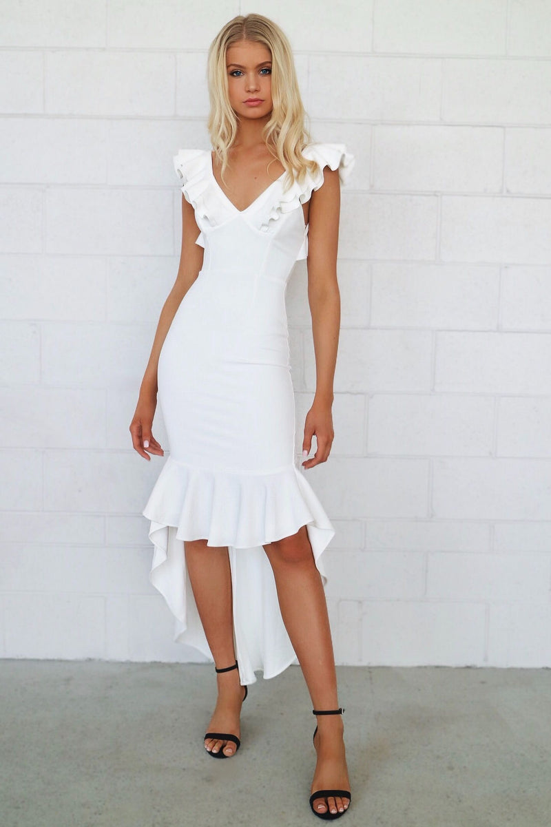 Showstopper Formal Gown - White - Runway Goddess