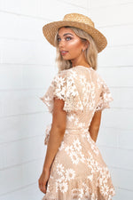 Something Sweet Lace Dress - Beige - Runway Goddess