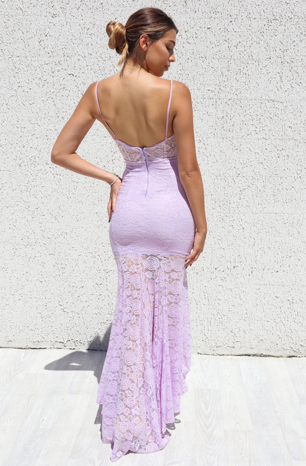 Talaya Lace Gown - Lilac