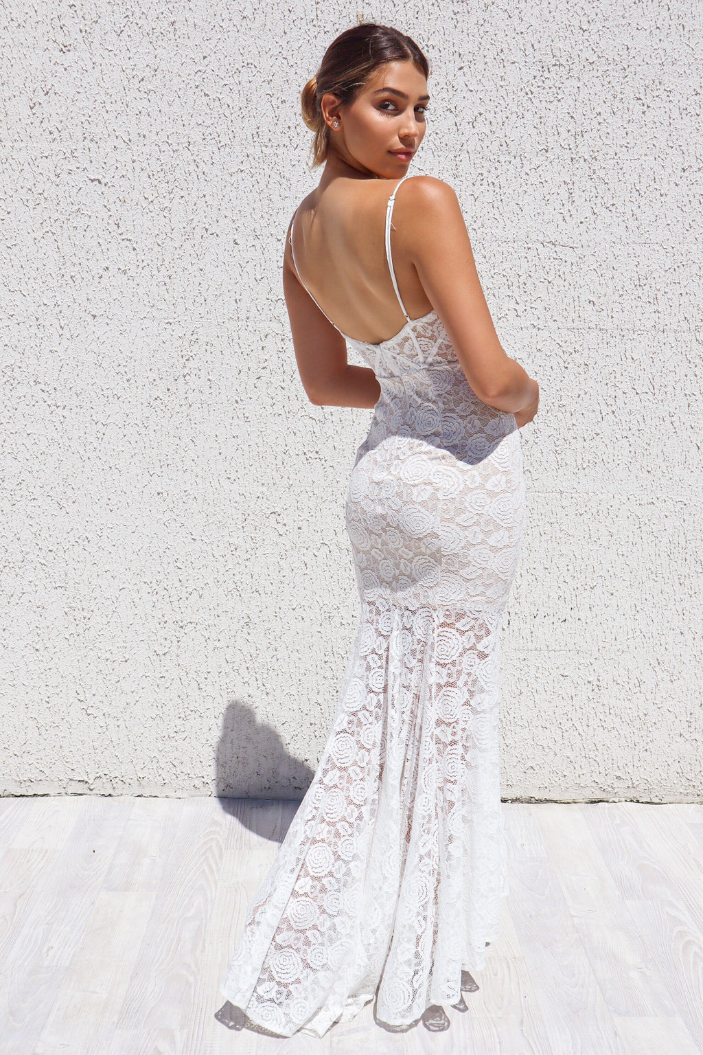 Talaya Lace Gown - White