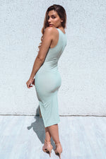 Utopia Ribbed Midi - Sage