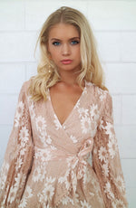 Vienna Lace Dress - Nude - Runway Goddess