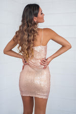 Vivian Sequin Mini Dress - Gold - Runway Goddess