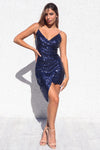 Wildheart Sequin Dress - Navy