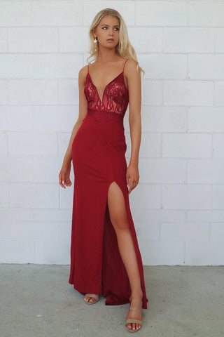 First Love Wine Formal dress