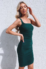 Beverley One-Shoulder Dress - Green