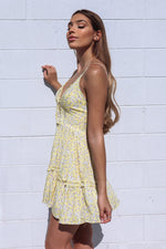 Bondi Dress - Yellow Dandelion Print
