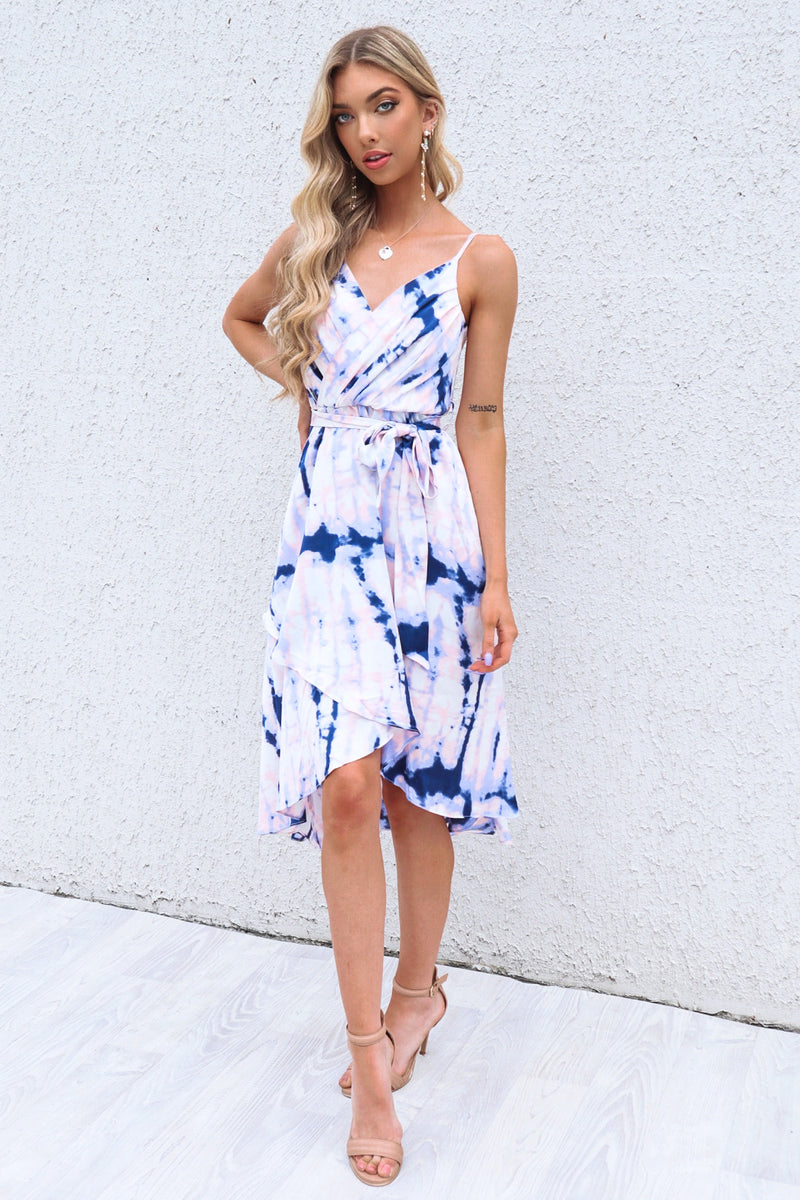 Cloud Nine Dress - Violet/Navy