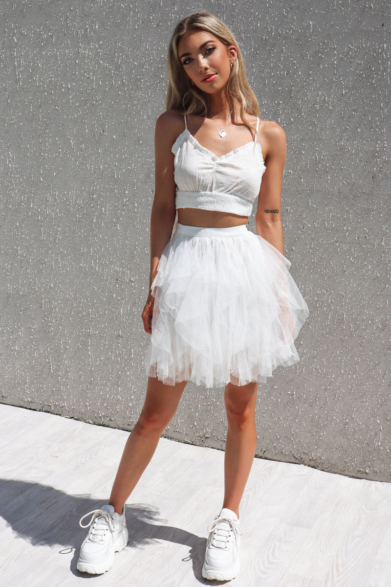 Cupid Tulle Skirt - White - Runway Goddess