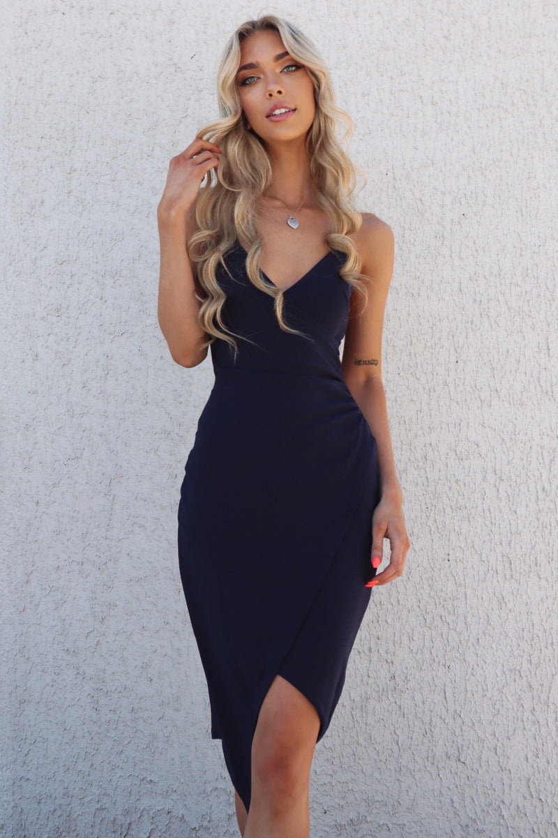 Kylie Bodycon Dress - Navy