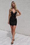 Becca Sequin Dress - Black - Runway Goddess