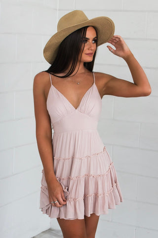 Loretta Blush Dress