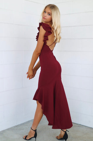 Showstopper Wine Red Formal Dress