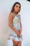 Angelica Floral Dress - Mint - Runway Goddess