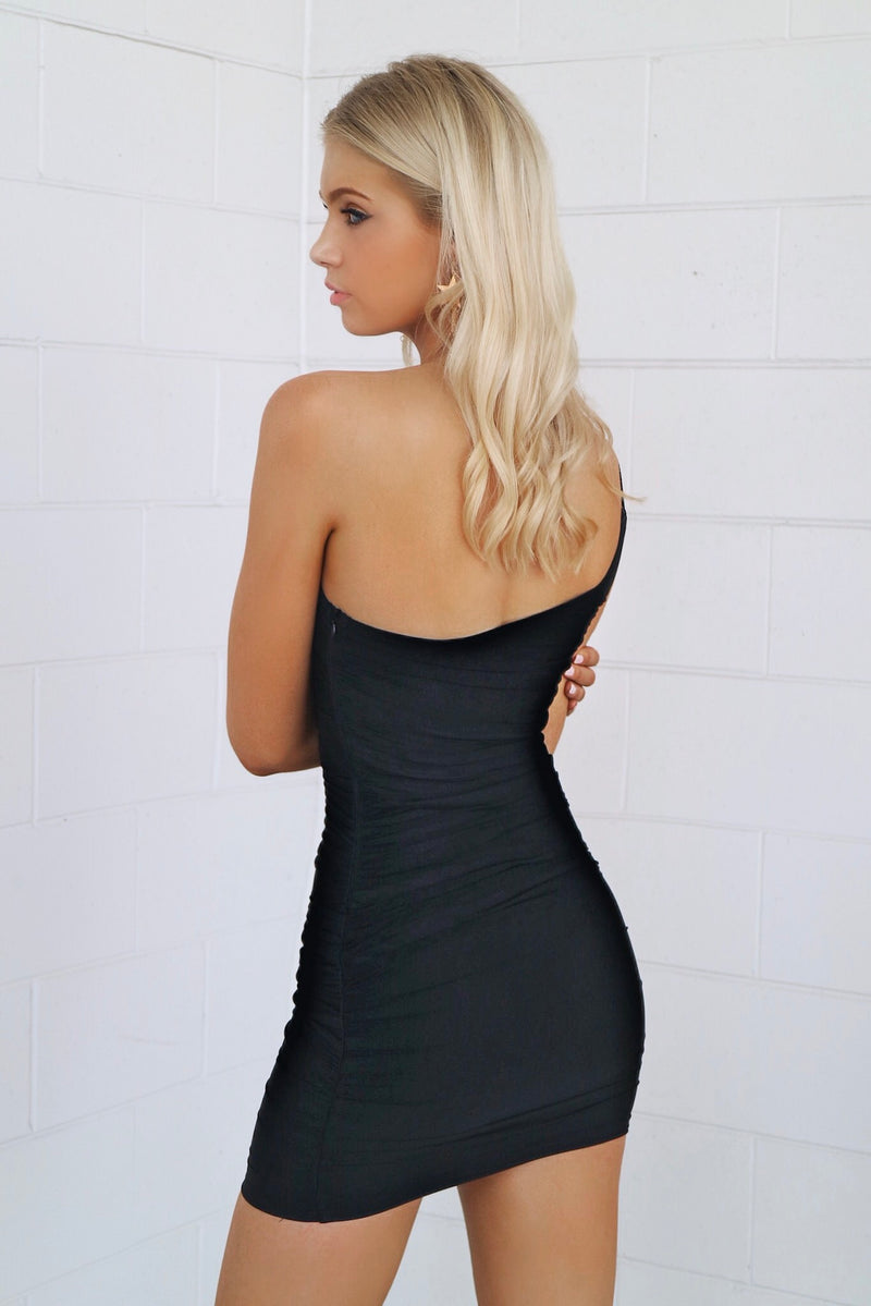 Adrianna Mesh Bodycon - Black - Runway Goddess