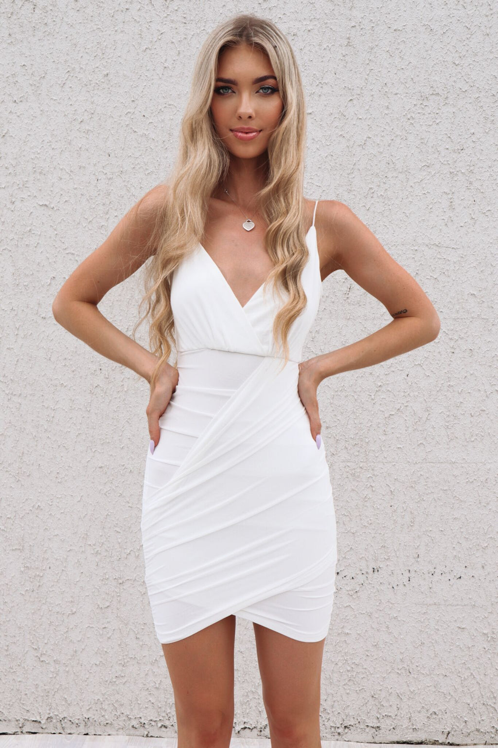 Jojo Mesh Dress - White - Runway Goddess