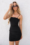 Kendall Mini Mesh Dress - Black - Runway Goddess