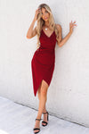 Kylie Bodycon Dress - Wine - Runway Goddess