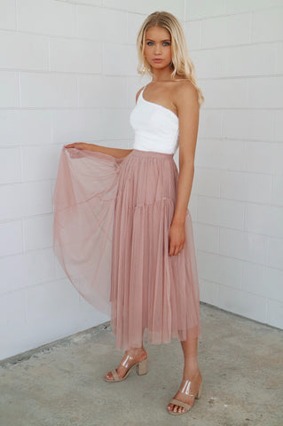 Neverland Blush Maxi Skirt