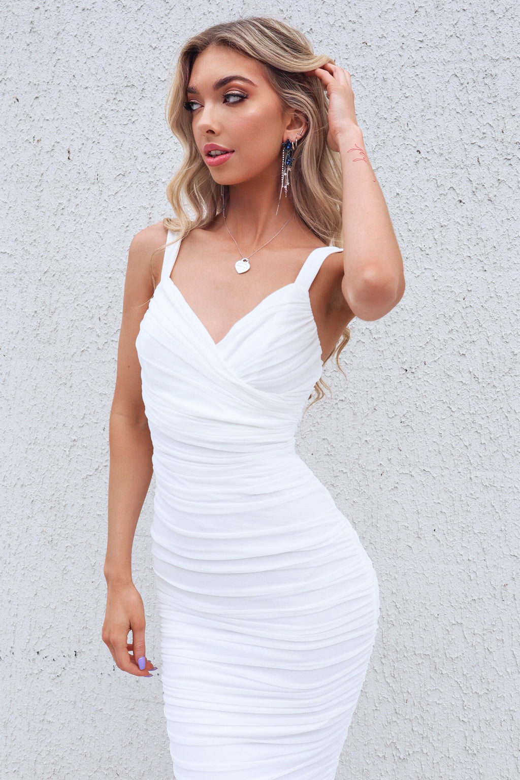 Odessa Midi Dress - White
