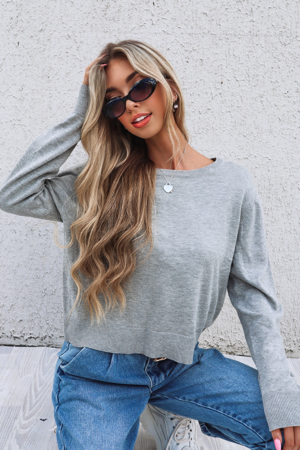 Grey Marle Staple Sweater - Runway Goddess
