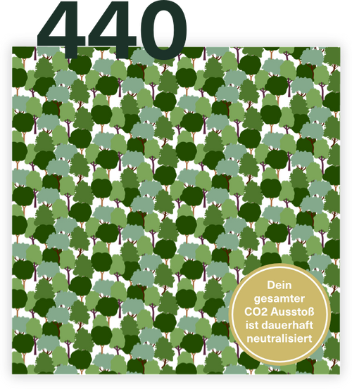 440 Bäume schenken - CO2 neutral