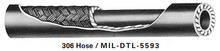 Load image into Gallery viewer, (Size 06) 306-6 Eaton Aeroquip Aerospace Hose MIL-DTL-5593-6 by the foot