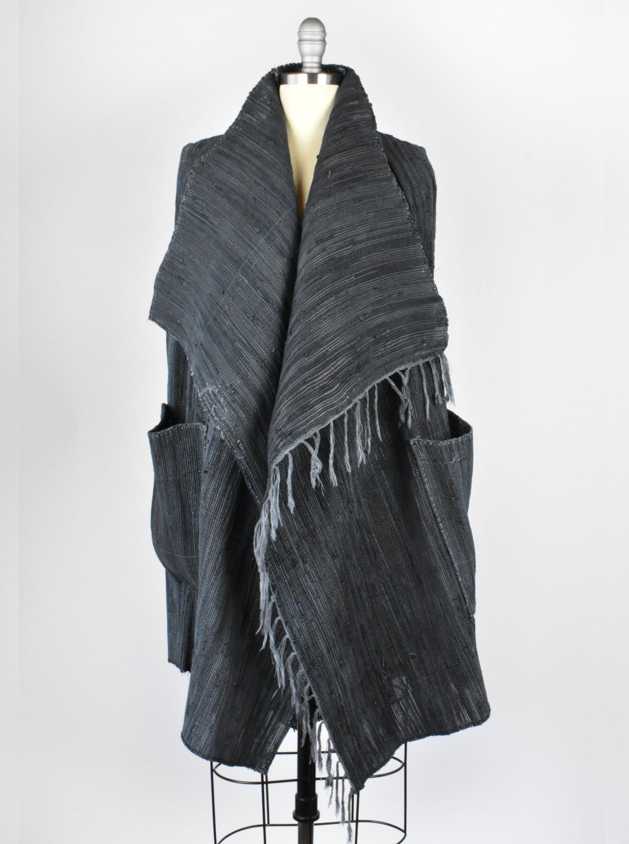 Greg Lauren Woven Leather Nomad Vest, Made in Los Angelas, California