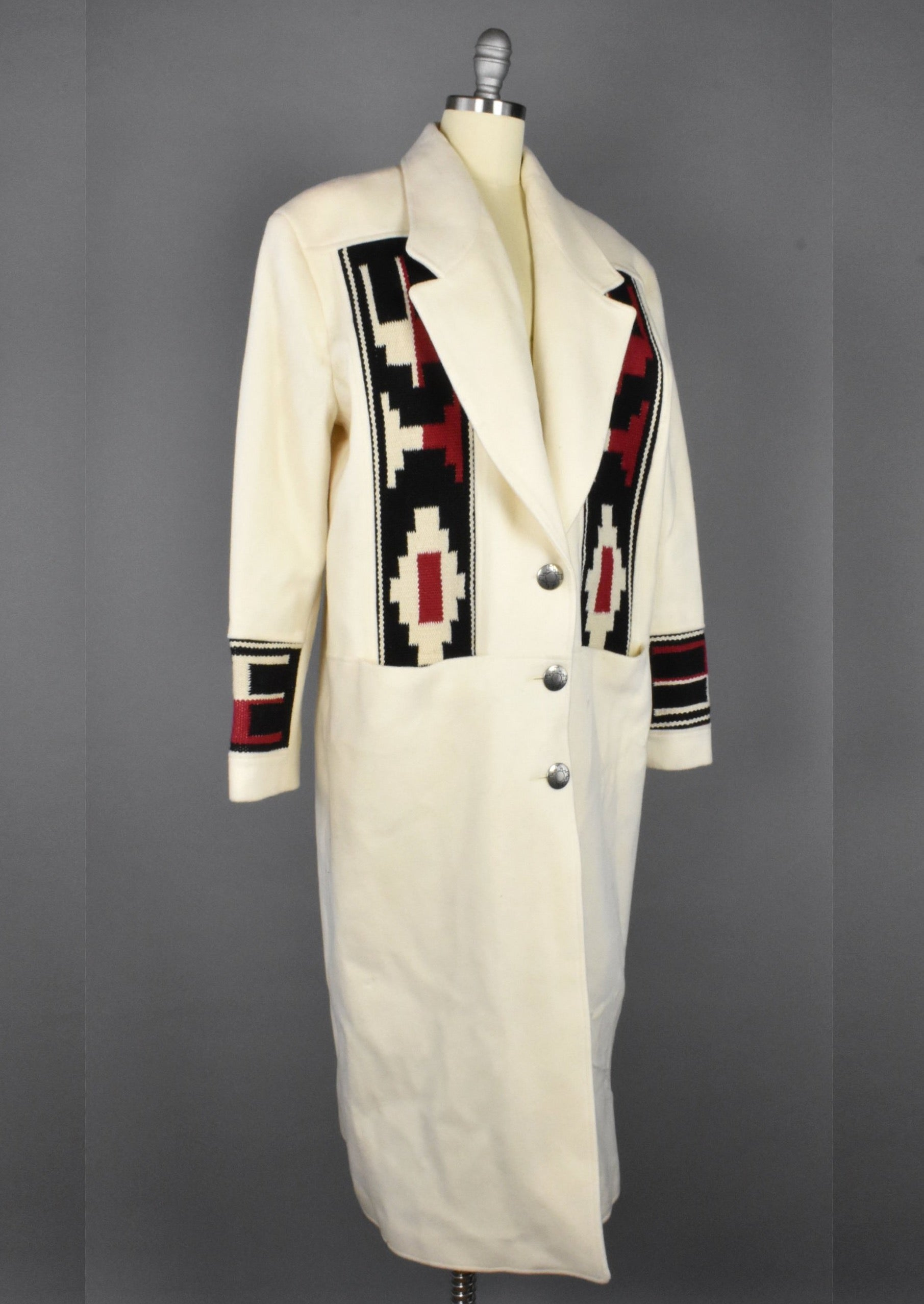 Vintage Southwestern Blanket Coat by Pioneer Wear