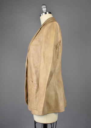 Vintage Lady Scully Leather Blazer