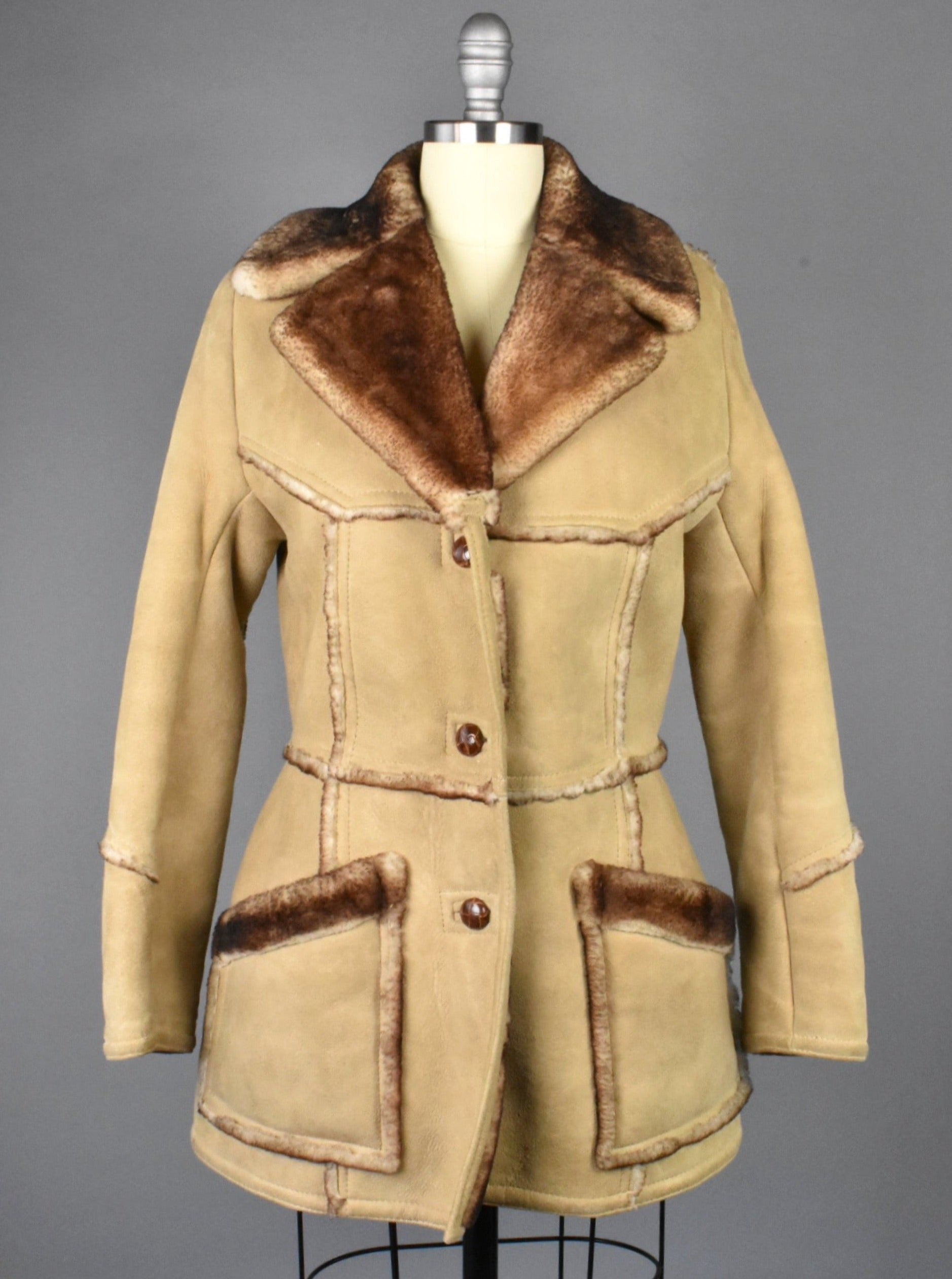 Vintage Leather Shearling Jacket, Made in USA