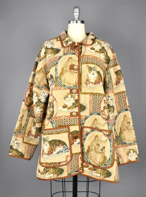 1980's Cat Tapestry Jacket