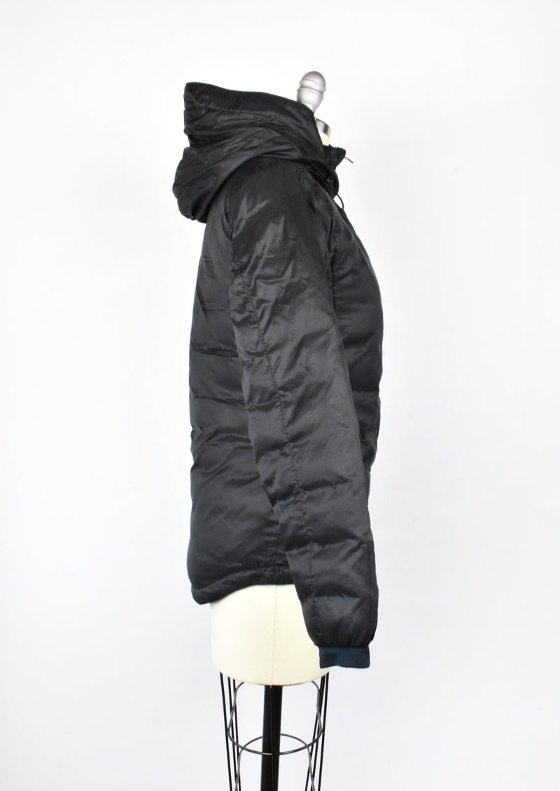 Canada Goose Black Puffer Jacket with Hood