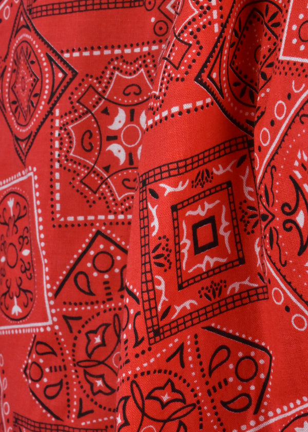 Red Handkerchief Print Blouse