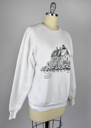 1989 Breakwater Light, Rockland Maine Lighthouse Sweatshirt