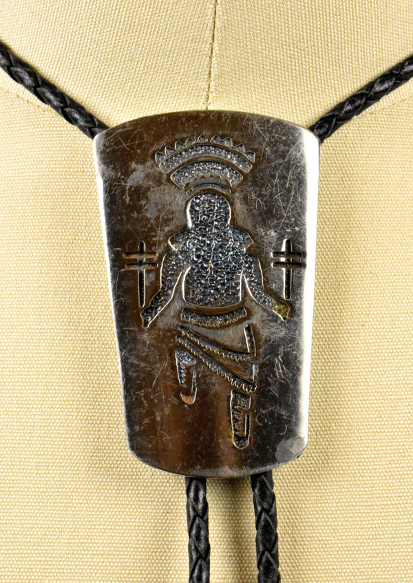 1970's Florenta of California Kachina Dancer Bolo Tie