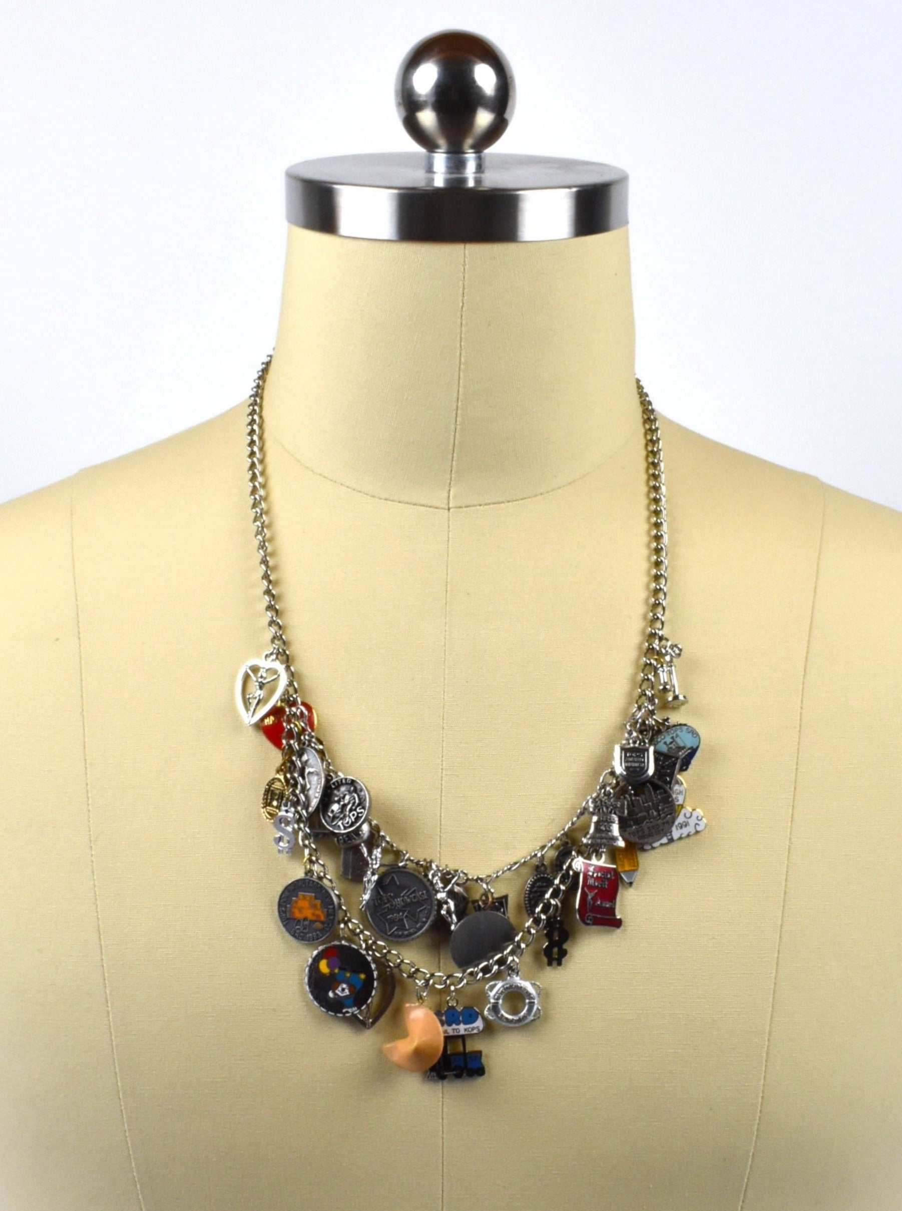 1980's-1990's TOPS Large Collection Charm Necklace