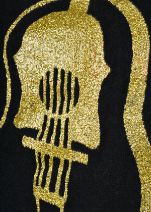 Shawn Phillips Gold Glitter Guitar T-Shirt - The Music Never Stops