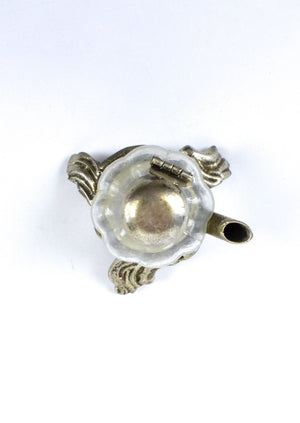 Antique 1800's Sterling Silver and Glass Inwell