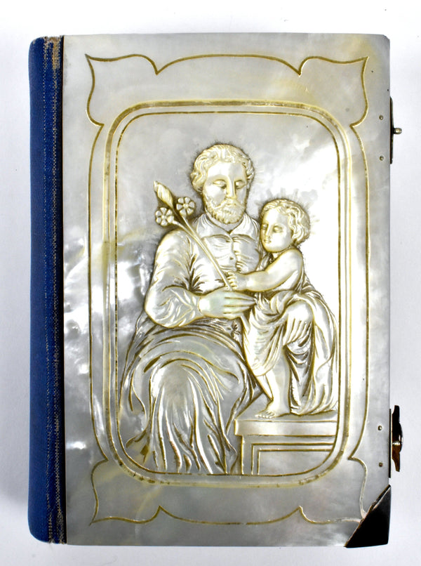 Antique 1877 St. Joseph's Catholic Manual Made of Mother of Pearl and Sterling Silver