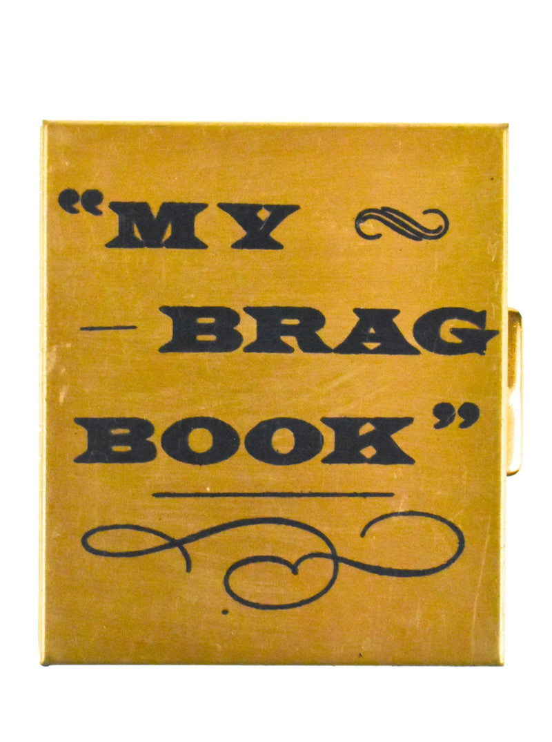 Vintage Pocket Sized BRAG BOOK with Push Latch