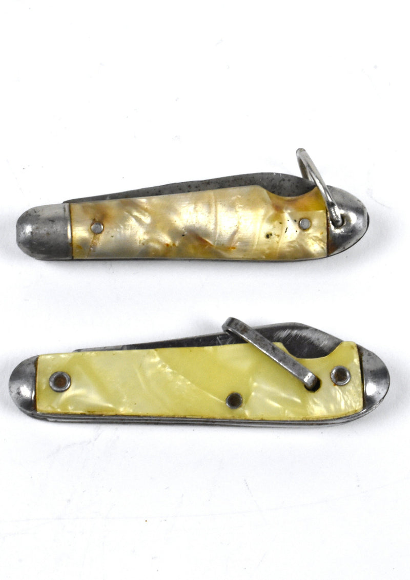 Two Vintage Collectible Novelty Mini Pocket Knives - Imperial