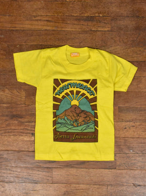 Vintage 70's-80's Kids Yellow New Mexico Tierra Encantada T-Shirt